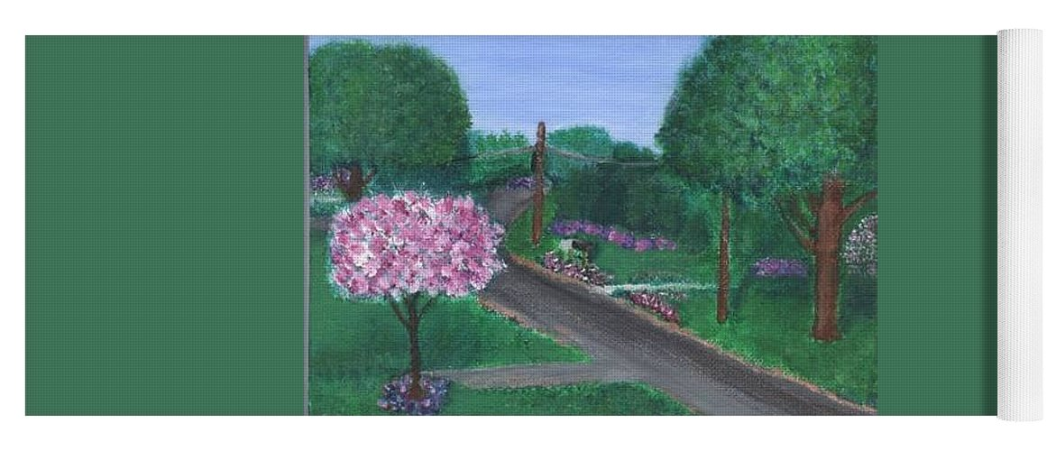 Plein Aire Yoga Mat featuring the painting Fellowship by Sheila Mashaw