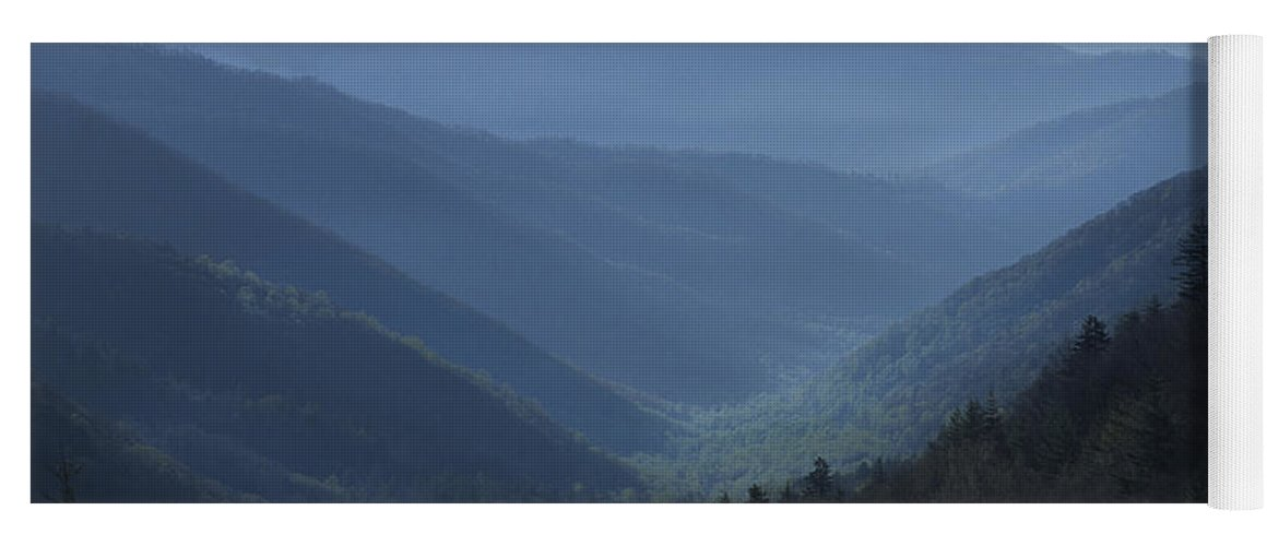 Landscape Yoga Mat featuring the photograph First Light On Clingman's Dome by Sandra Bronstein