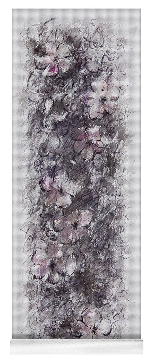 Floral Yoga Mat featuring the painting floral cascade II by William Russell Nowicki