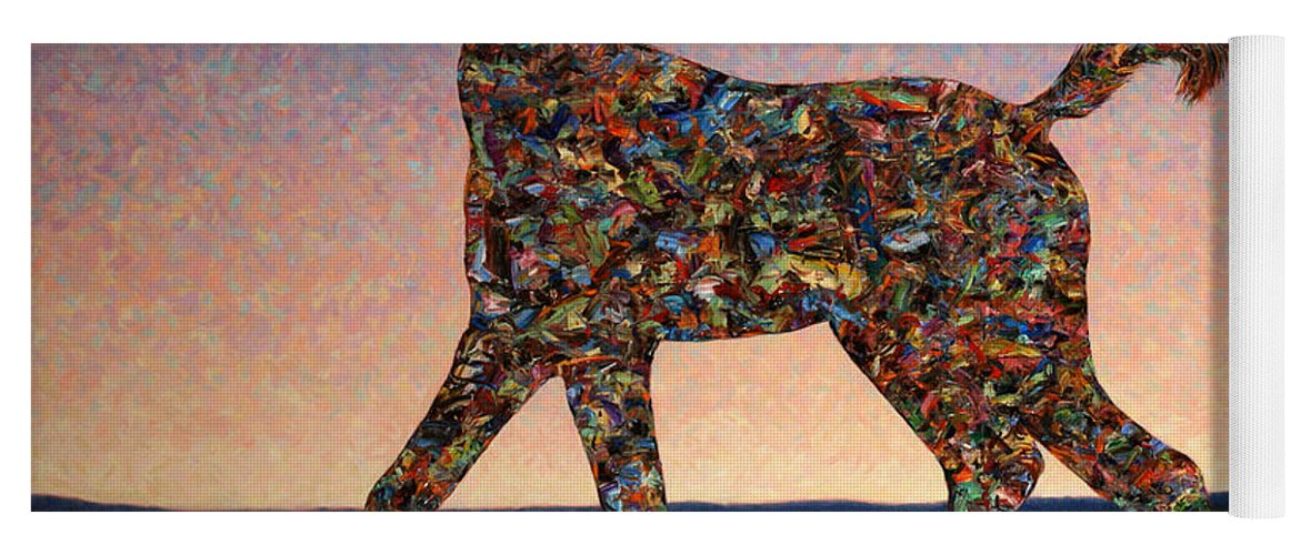 Foal Yoga Mat featuring the painting Foal Spirit by James W Johnson