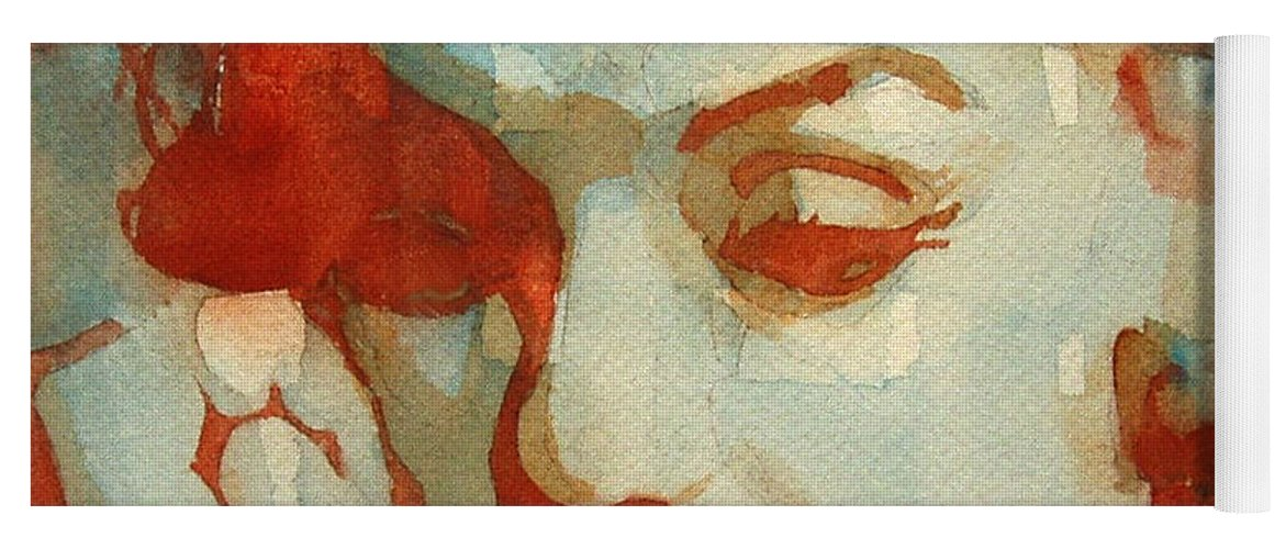 Marilyn Monroe Yoga Mat featuring the painting Fragile by Paul Lovering
