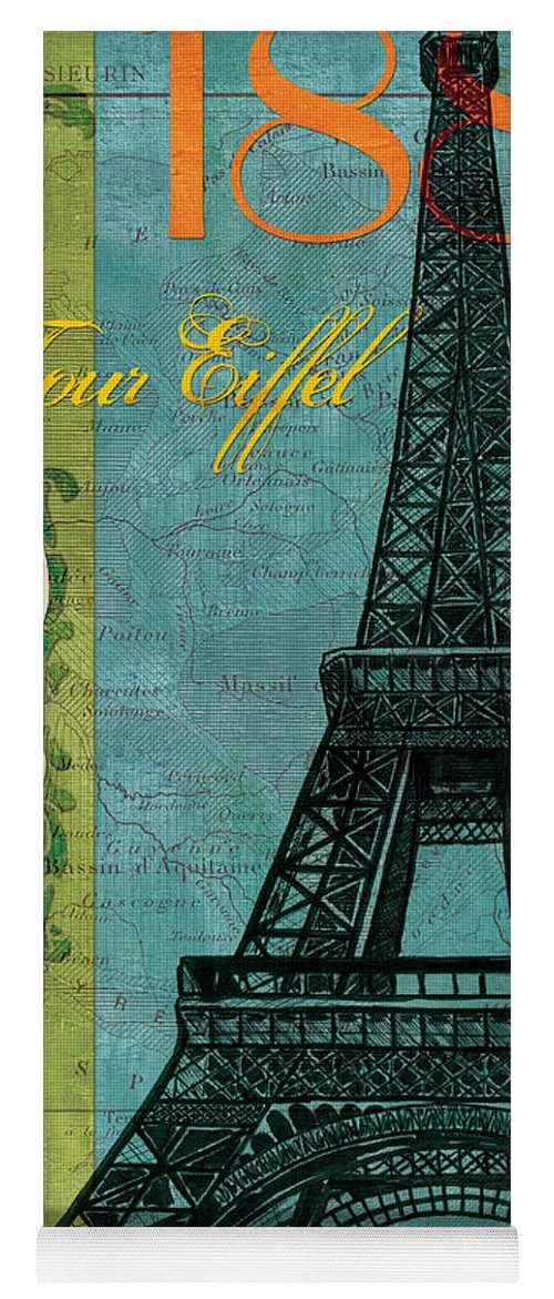 France Yoga Mat featuring the painting Francaise 1 by Debbie DeWitt