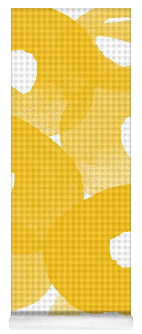 Abstract Flowers Yoga Mat featuring the painting Freesia Splash by Linda Woods