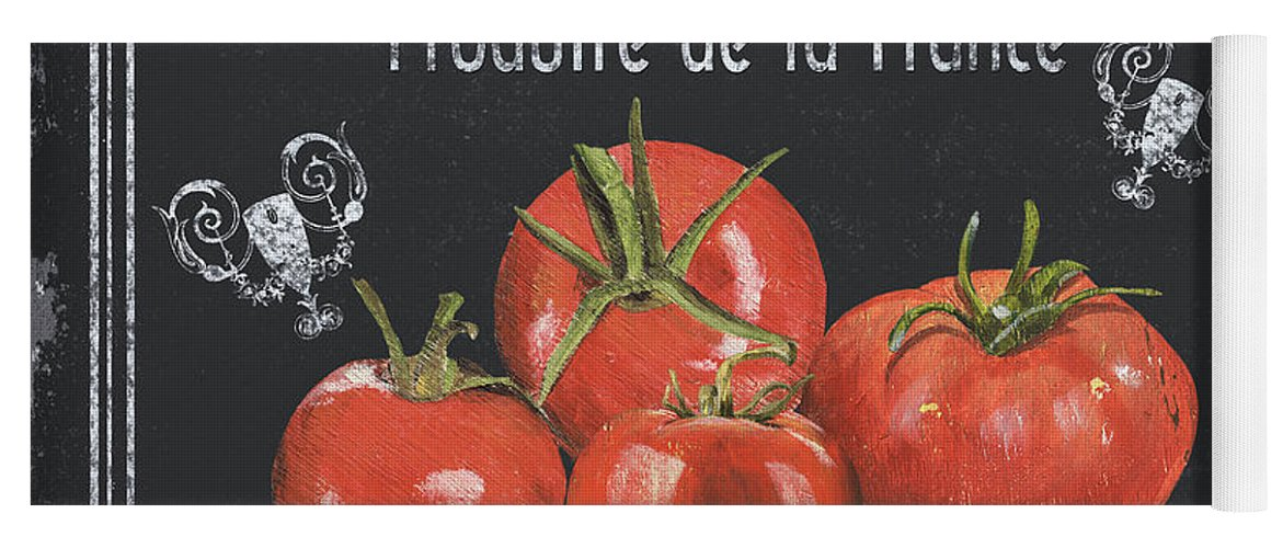 Vegetables Yoga Mat featuring the painting French Vegetables 1 by Debbie DeWitt
