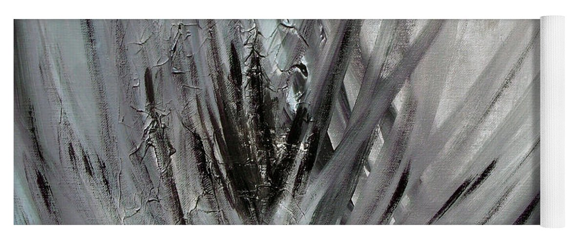Abstract Yoga Mat featuring the painting Frozen by Sergey Bezhinets