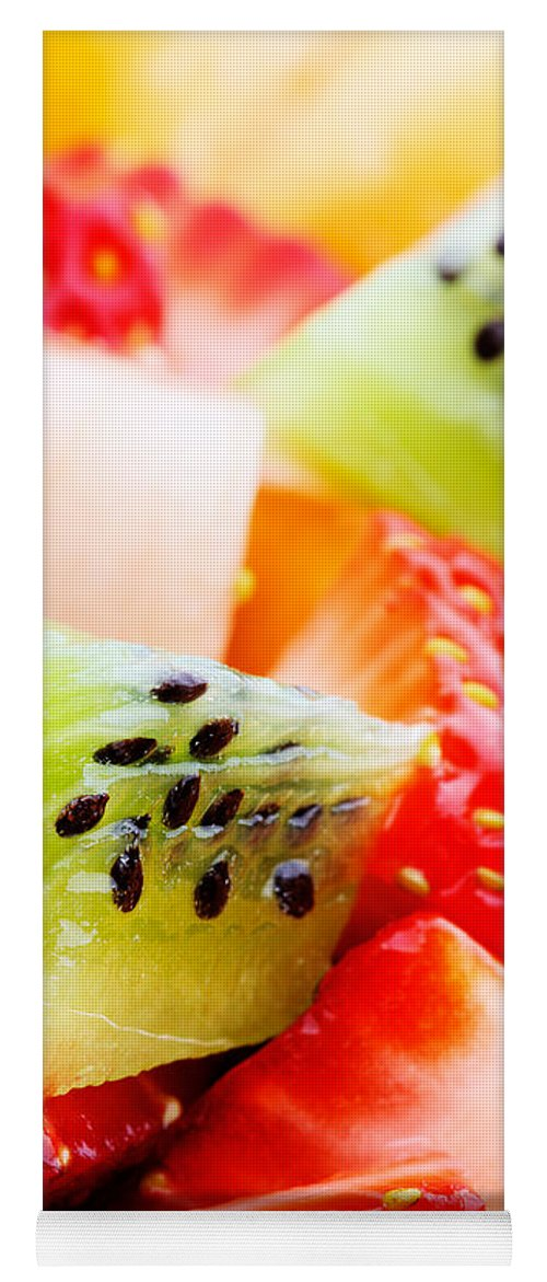 Fruit Yoga Mat featuring the photograph Fruit Salad Macro by Johan Swanepoel