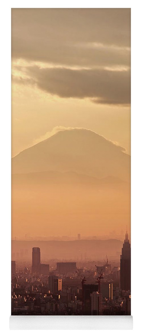 Mount Fuji Yoga Mat featuring the photograph Fujisan by Delphimages Photo Creations