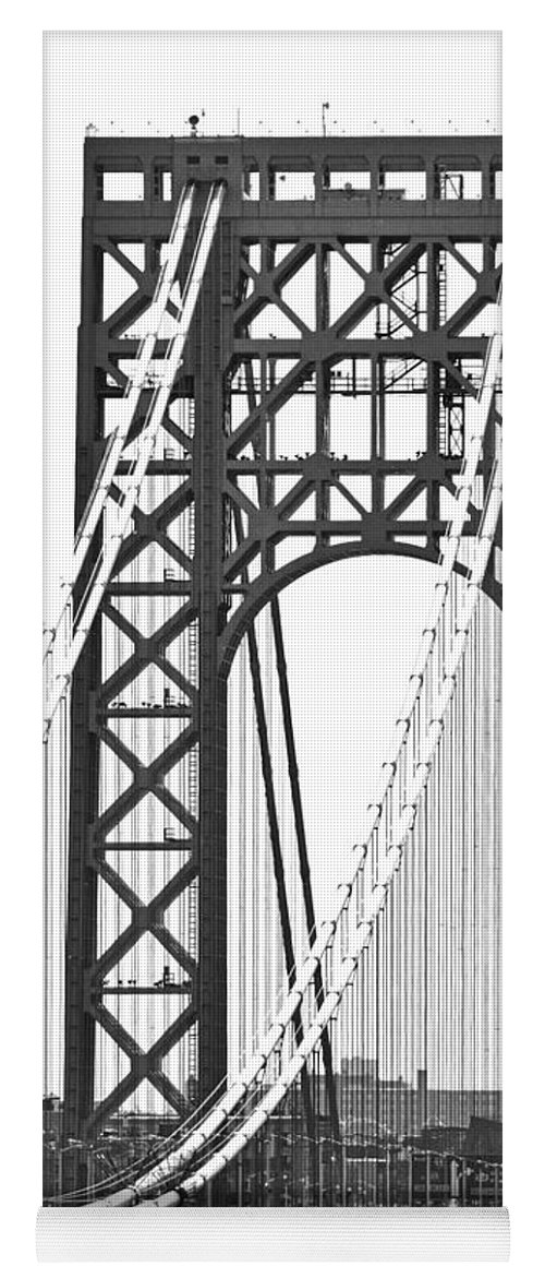 George Washington Bridge Yoga Mat featuring the photograph George Washington Bridge Nj Tower by Regina Geoghan