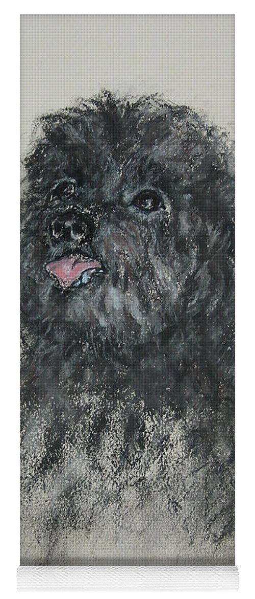 Poodle Yoga Mat featuring the drawing Gigi by Cori Solomon
