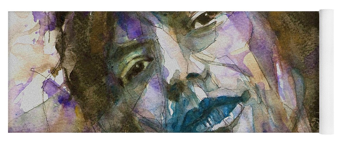 Rolling Stones Yoga Mat featuring the painting Gimme Shelter by Paul Lovering