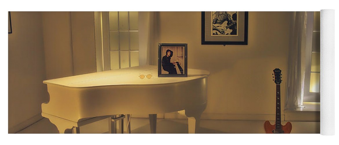 John Lennon Yoga Mat featuring the photograph Give Peace a Chance by Mountain Dreams