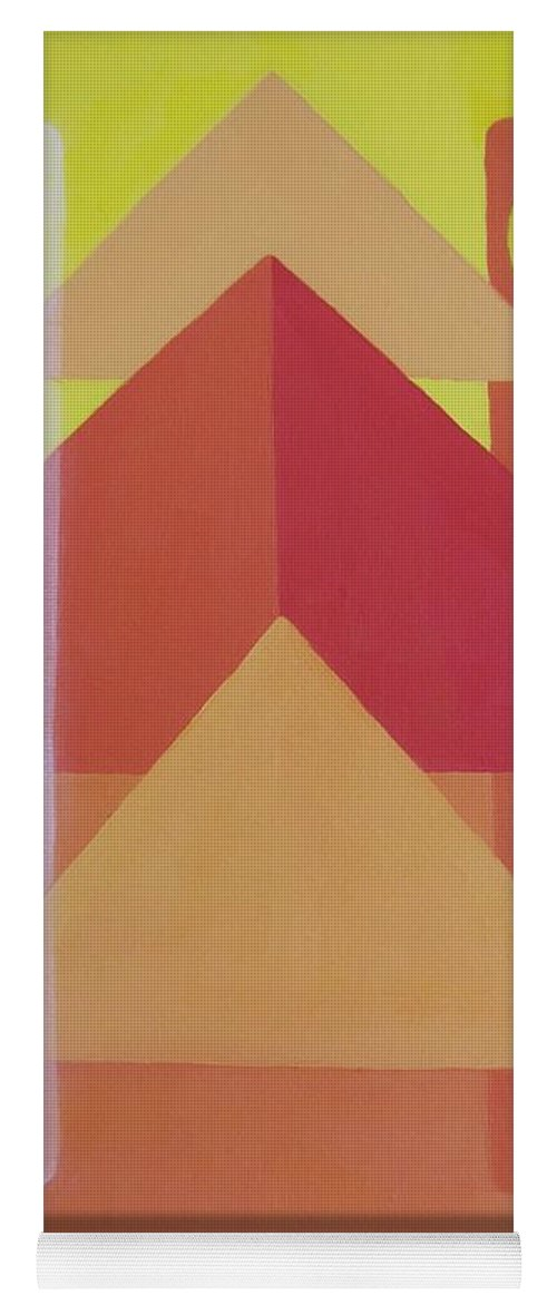 Giza Yoga Mat featuring the painting Giza by Michael TMAD Finney AKA MTEE