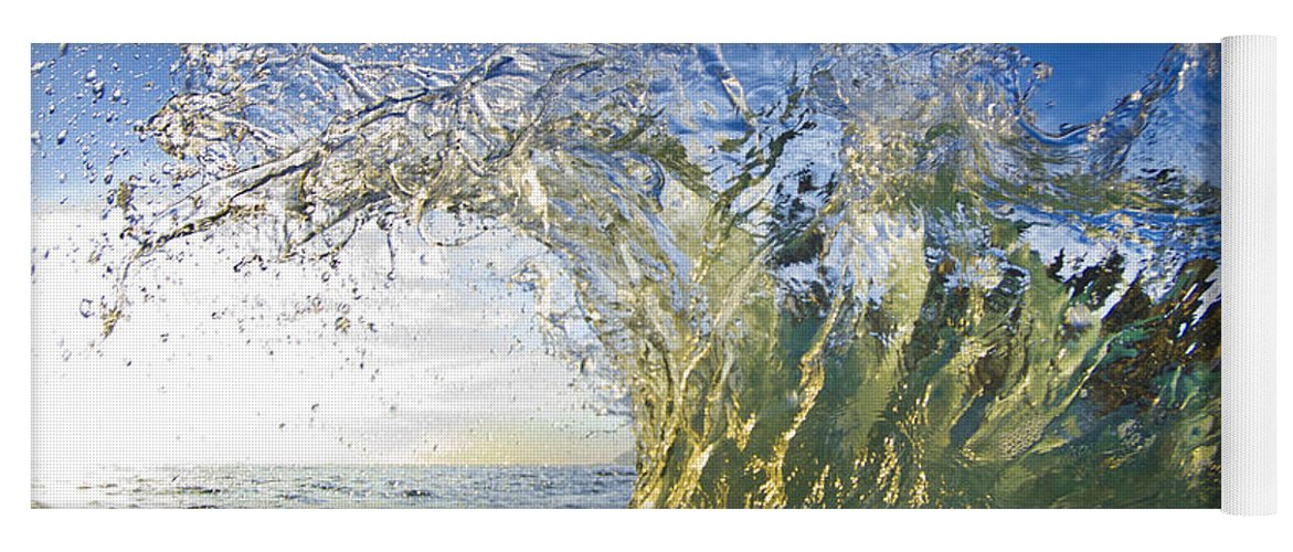 Crashing Waves Yoga Mat featuring the photograph Gold Crown by Sean Davey