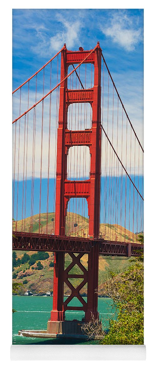 Architecture Yoga Mat featuring the photograph Golden Gate Bridge by Raul Rodriguez