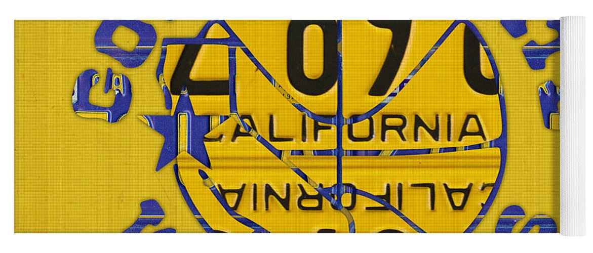 79b06a6fc92b21 Golden State Yoga Mat featuring the mixed media Golden State Warriors  Basketball Team Retro Logo Vintage