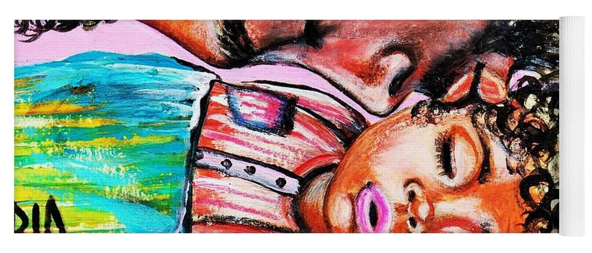 Artbyria Yoga Mat featuring the photograph Goodnight Kiss by Artist RiA