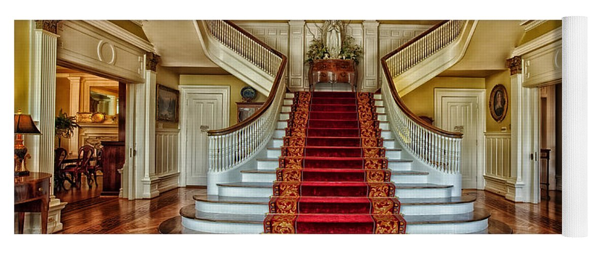 Montgomery Yoga Mat Featuring The Photograph Grand Staircase   Alabama  Governoru0027s Mansion By Mountain Dreams