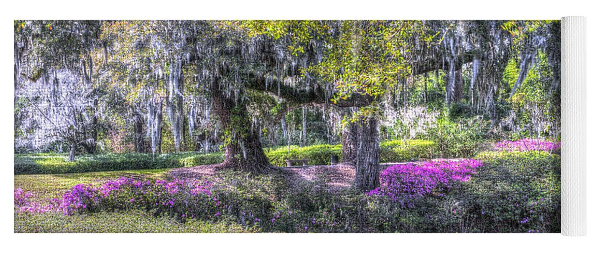 Azalea Yoga Mat featuring the photograph Grounds Of Middleton by Dale Powell