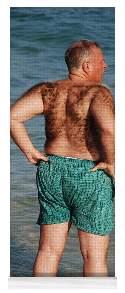 Man Yoga Mat featuring the photograph Hairy Ocean by Rob Hans