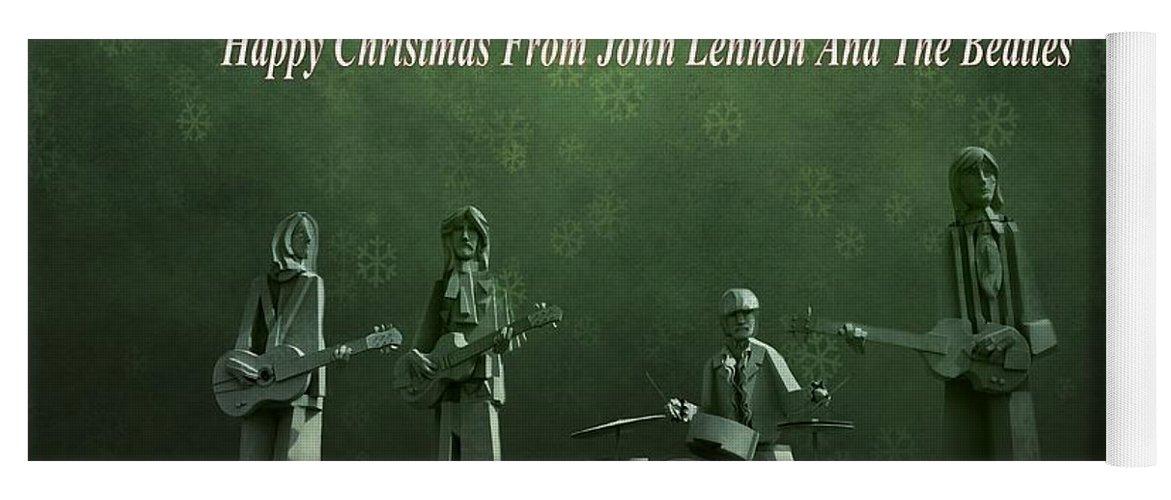 Happy Christmas From John Lennon Yoga Mat featuring the photograph Happy Christmas From John Lennon by Dan Sproul