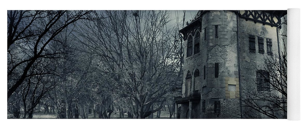 House Yoga Mat featuring the photograph Haunted house by Jelena Jovanovic
