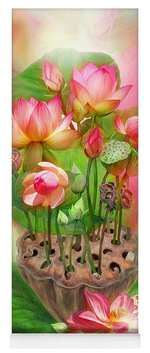 Healing Lotus Root Yoga Mat For Sale By Carol Cavalaris