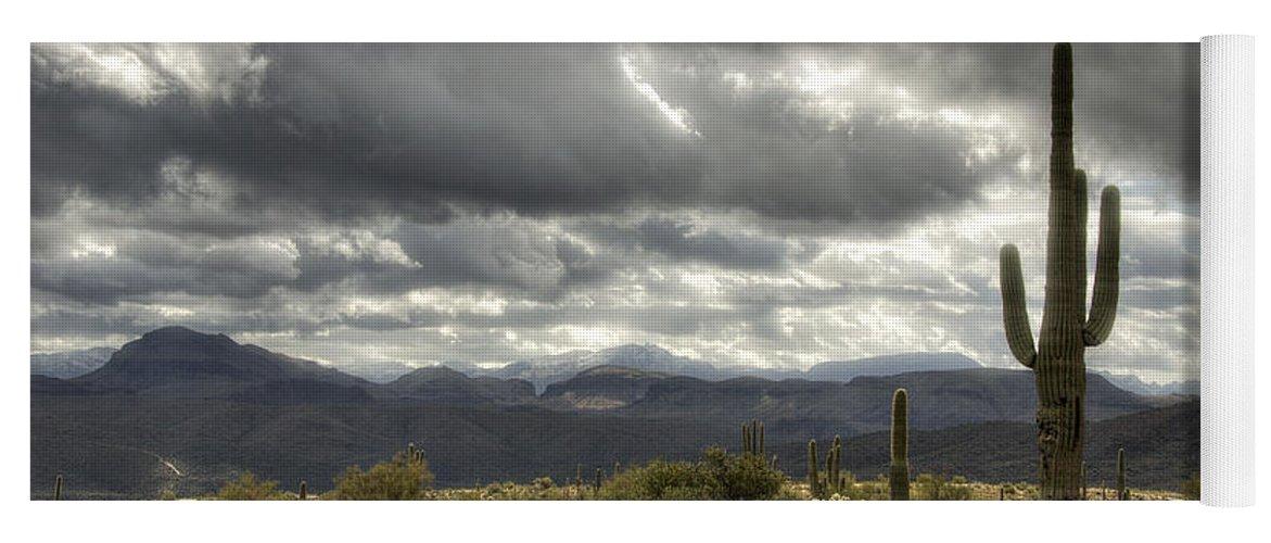 Arizona Yoga Mat featuring the photograph Heavenly Desert Skies by Saija Lehtonen