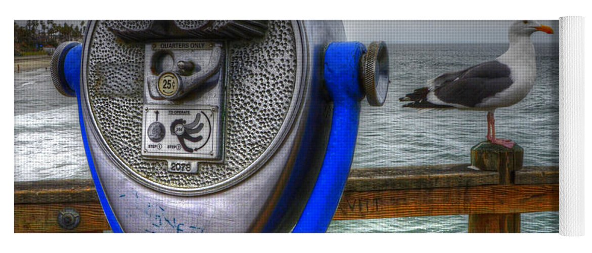 Oceanside Yoga Mat featuring the photograph Hey Somebody Look At Me by Bob Christopher