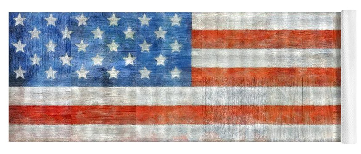 Flag Yoga Mat featuring the painting Homeland by Michelle Calkins