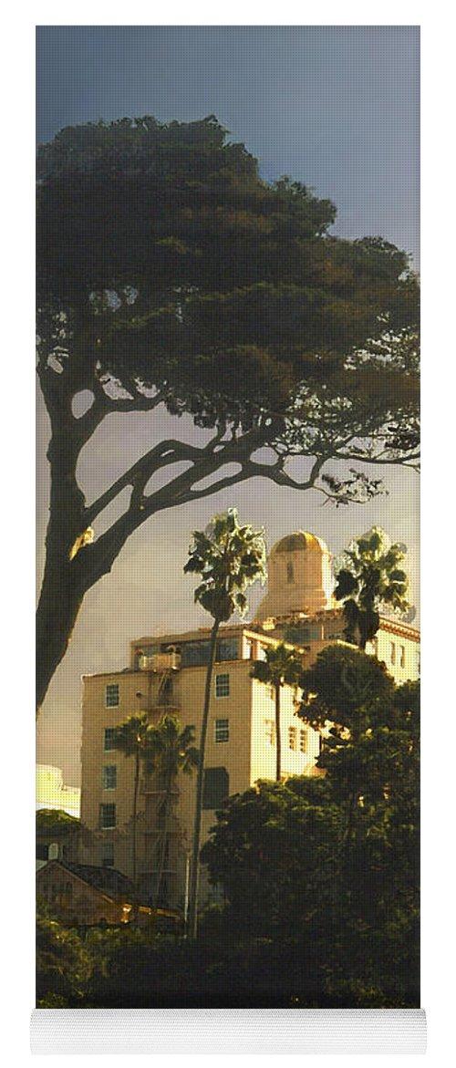 Landscape Yoga Mat featuring the photograph Hotel California- La Jolla by Steve Karol