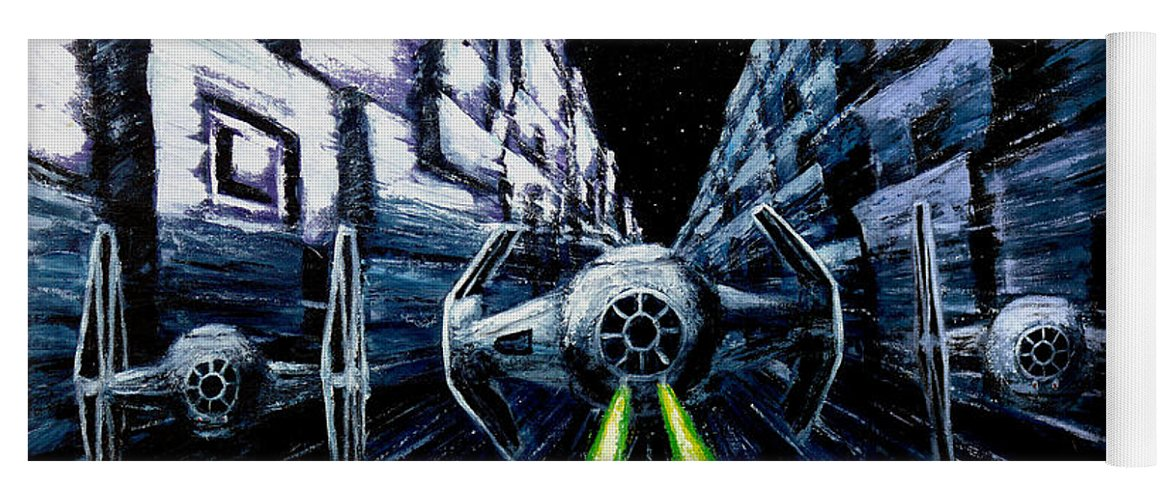 Star Wars Yoga Mat featuring the painting I Have You Now by Marlon Huynh