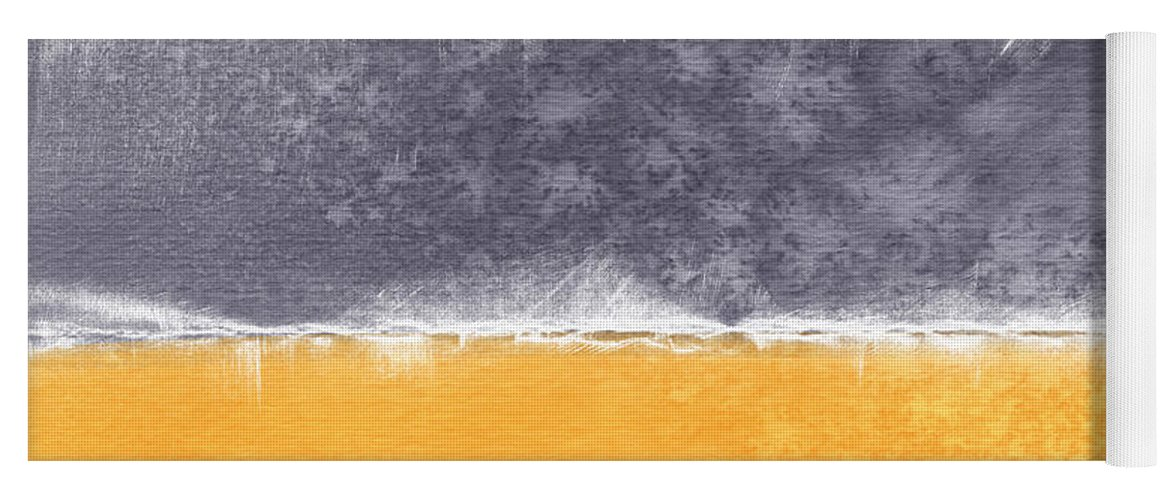 Abstract Yoga Mat featuring the painting Indian Summer by Linda Woods
