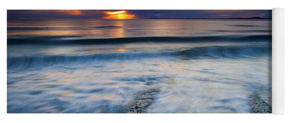 Seascape Yoga Mat featuring the photograph Into The Sea by Mike Dawson