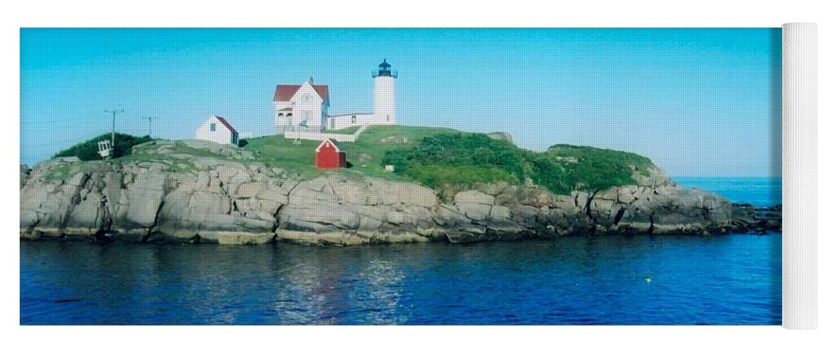 Lighthouse Yoga Mat featuring the photograph Island Lighthouse by Jeffery L Bowers