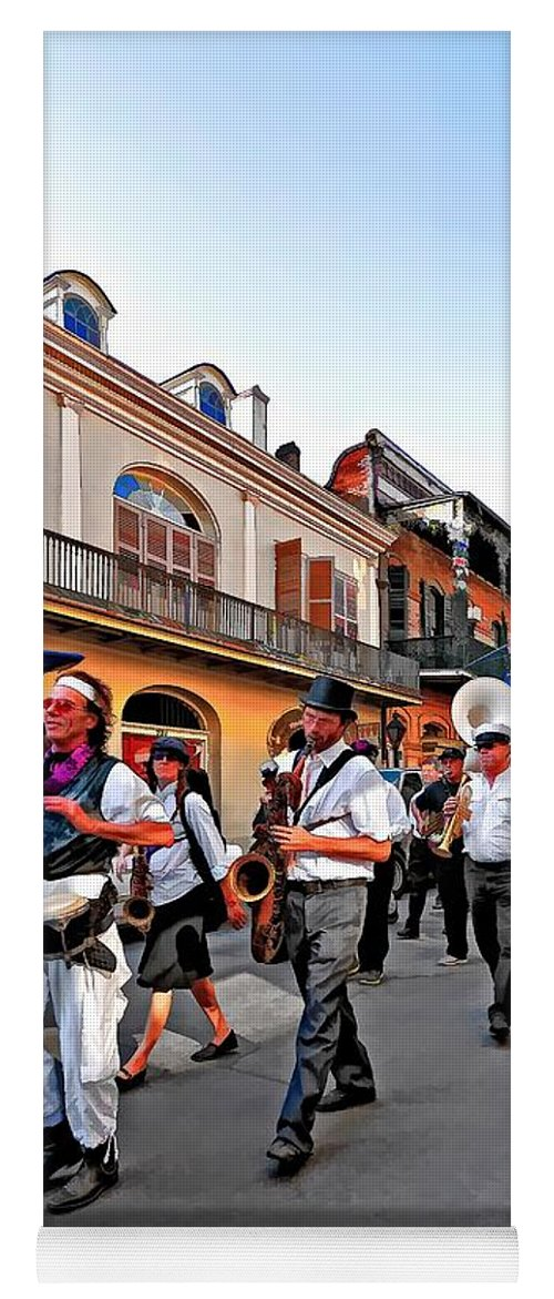 French Quarter Yoga Mat featuring the photograph Jazz Funeral by Steve Harrington