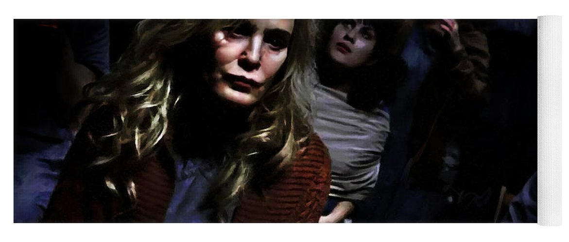 American Horror Story: Asylum Yoga Mat featuring the digital art Jessica Lange as Sister Jude @ TV serie American Horror Story Asylum by Gabriel T Toro