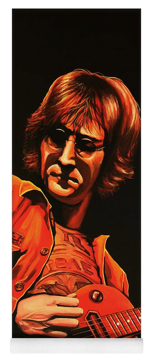 John Lennon Yoga Mat featuring the painting John Lennon Painting by Paul Meijering