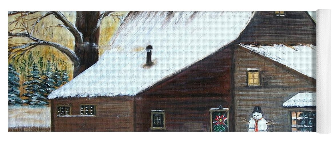 Landscape Yoga Mat featuring the painting Last of Winter by Kenneth LePoidevin