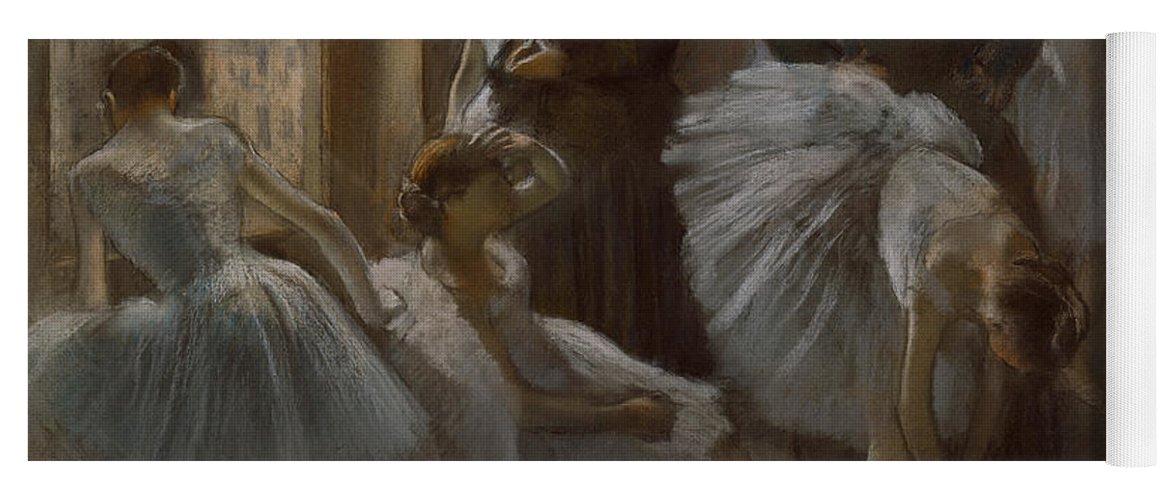 Dancer Yoga Mat featuring the painting Le Foyer De L'opera by Edgar Degas
