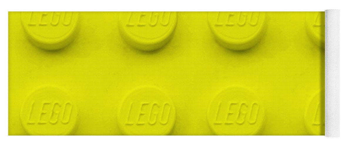 Lego Yoga Mat featuring the photograph Lego Block Yellow by Rob Hans