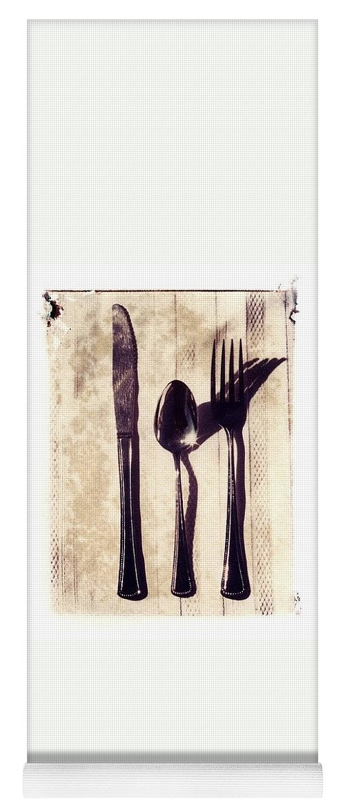 Forks Yoga Mat featuring the photograph Lets Eat by Jane Linders