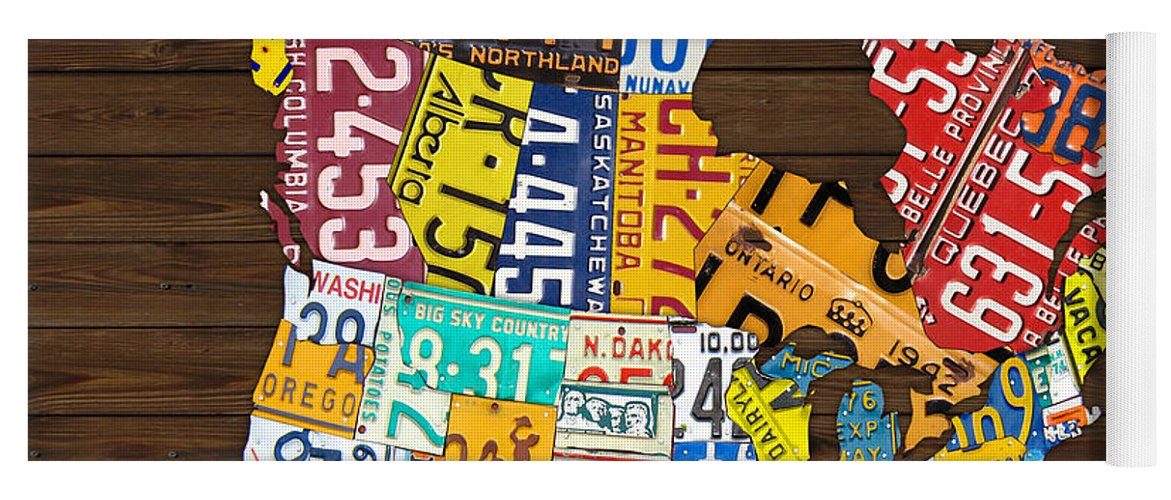 License Plate United States Map.License Plate Map Of North America Canada And United States Yoga