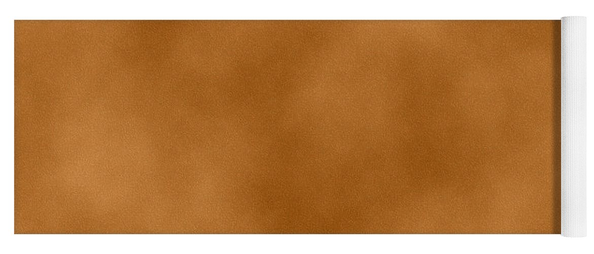 fb3791e31af2 Brown Yoga Mat featuring the digital art Light Brown Leather Texture  Background by Valentino Visentini