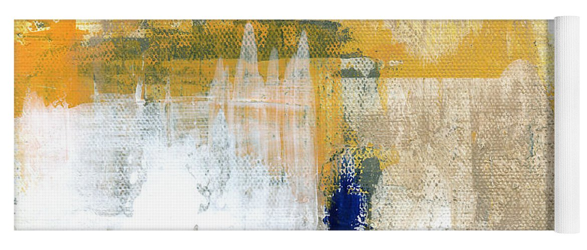 Abstract Yoga Mat featuring the painting Light Of Day 4 by Linda Woods