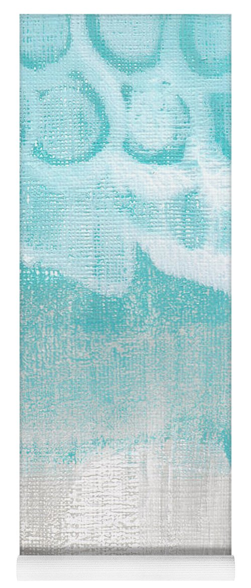 Abstract Yoga Mat featuring the painting Like A Prayer- Abstract Painting by Linda Woods