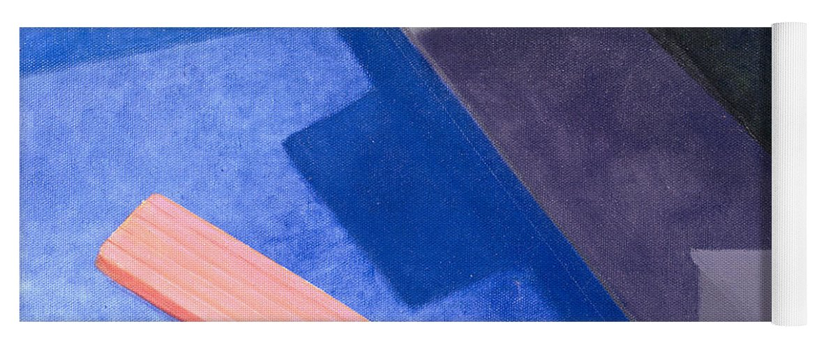 Pool Yoga Mat featuring the photograph Lilo, 2004 Acrylic On Canvas by Lincoln Seligman