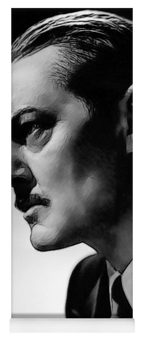 Celebrity Yoga Mat featuring the drawing Lionel Barrymore 002 by Dean Wittle
