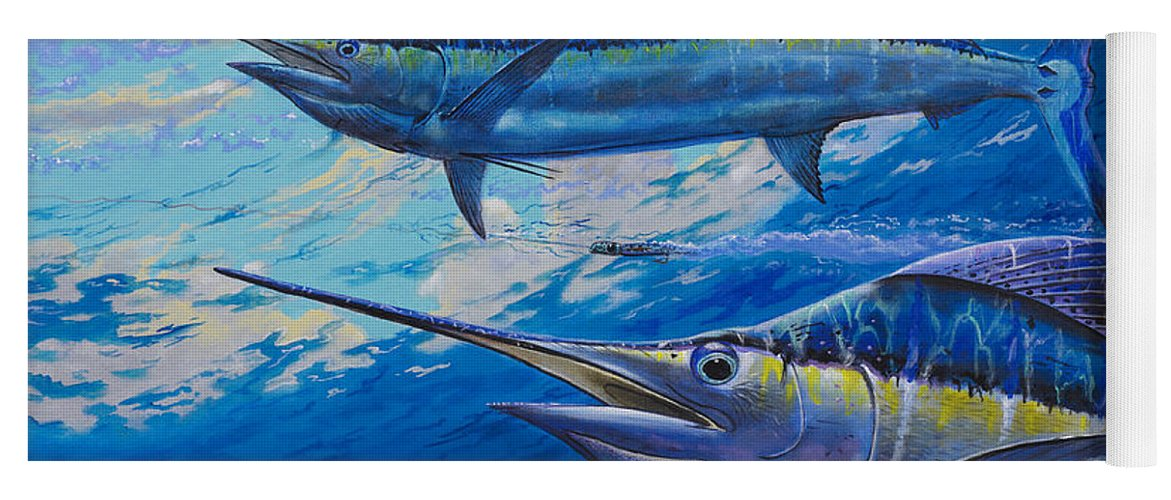Marlin Yoga Mat featuring the painting Lookers Off0019 by Carey Chen
