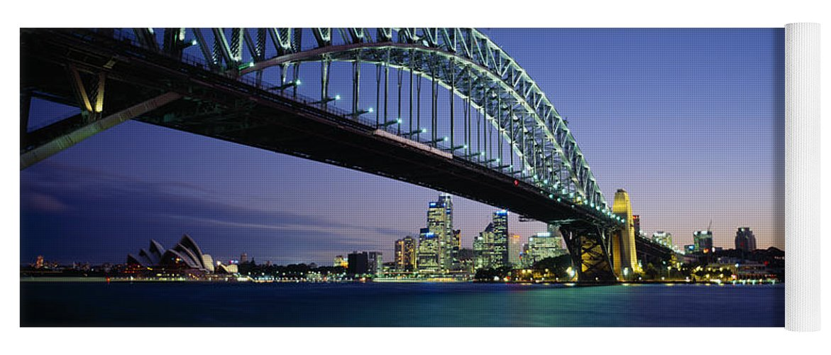 Photography Yoga Mat featuring the photograph Low Angle View Of A Bridge, Sydney by Panoramic Images