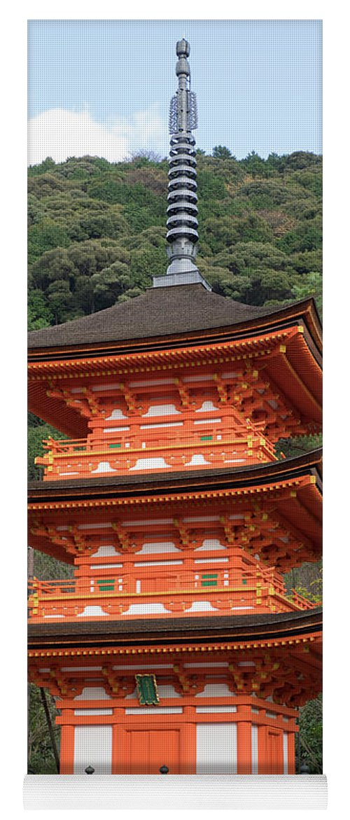 Photography Yoga Mat featuring the photograph Low Angle View Of A Small Pagoda by Panoramic Images